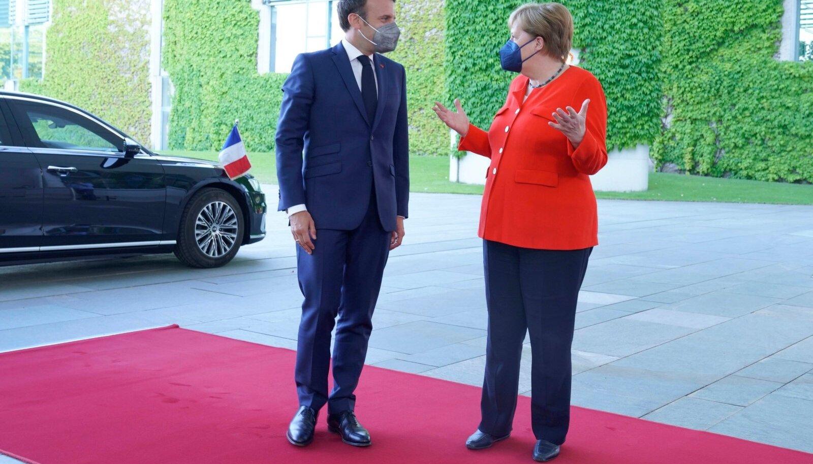 Angela Merkeli ja Emmanuel Macroni kohtumine