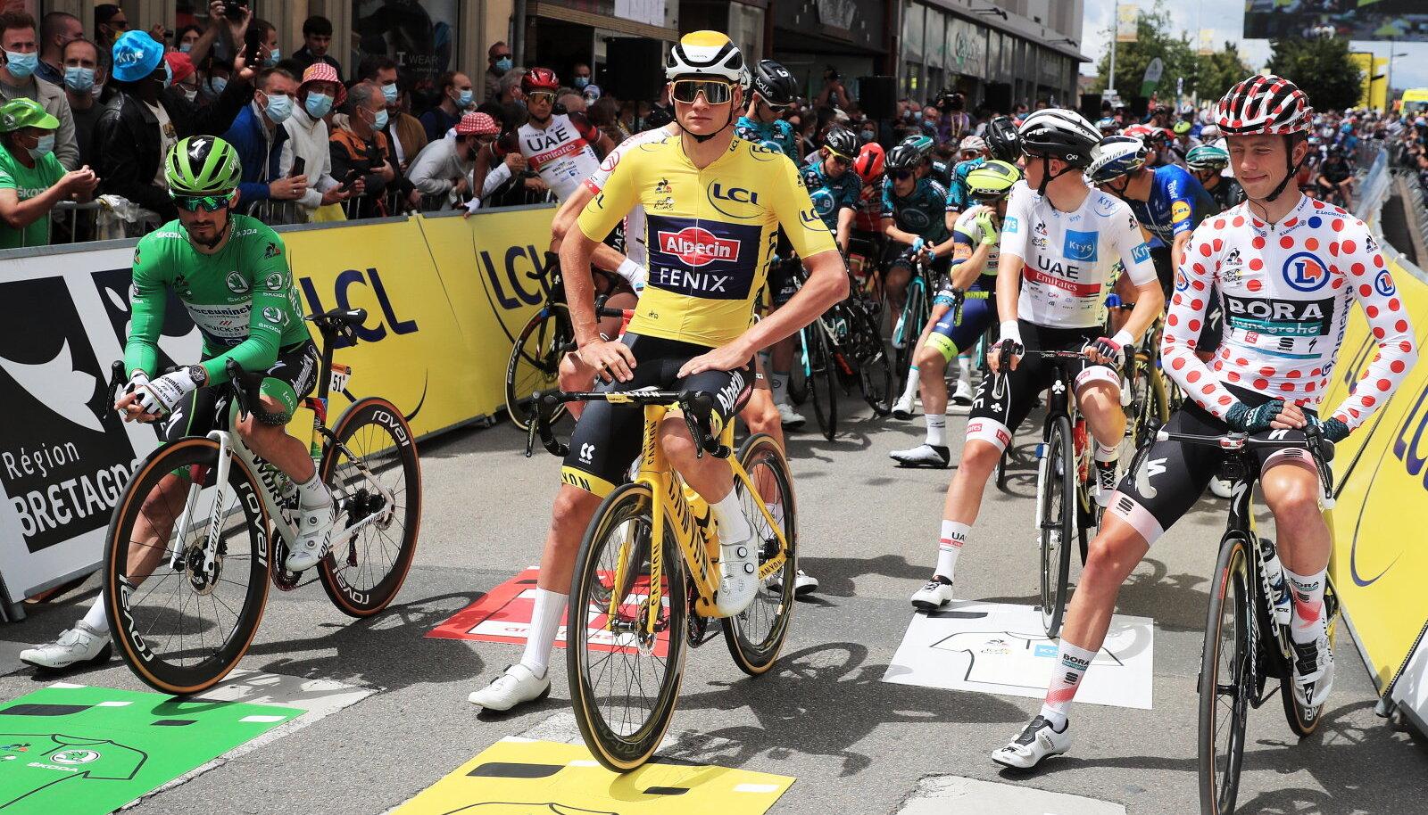 Tour de France, kollases Julian Alaphilippe