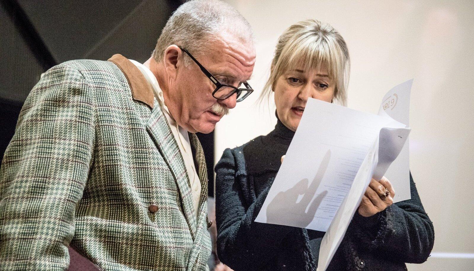 Peeter Simm ja Edith Sepp EFTA kandidaatide avalikustamisüritusel