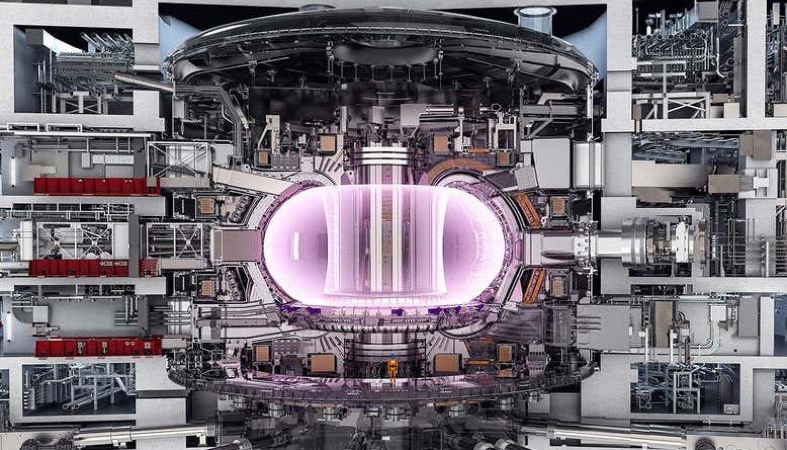 Selline näeb uus võimas magnet ITER-i fusioonreaktori osana (foto: ITER)