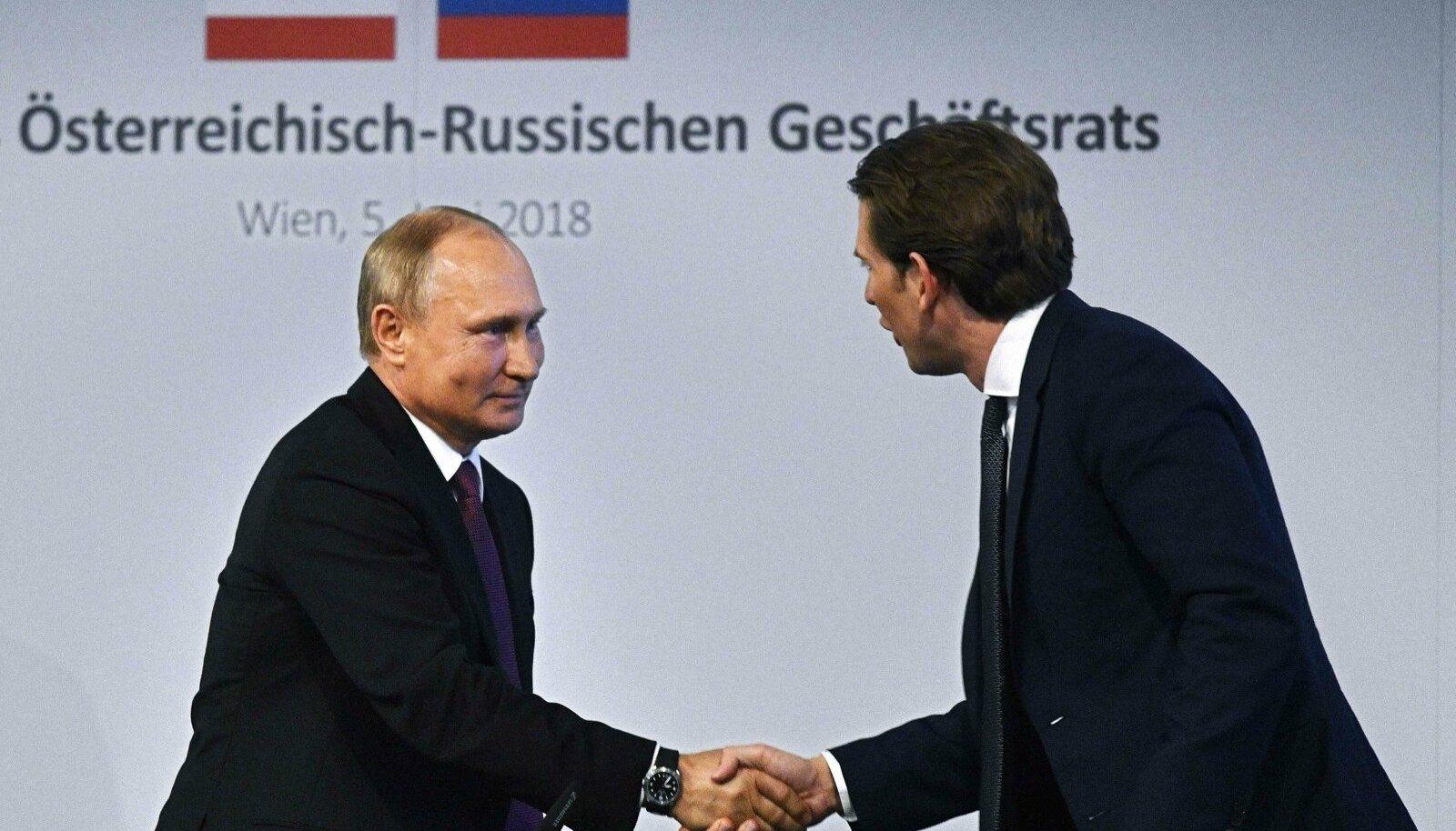 Vladimir Putin ja Sebastian Kurz