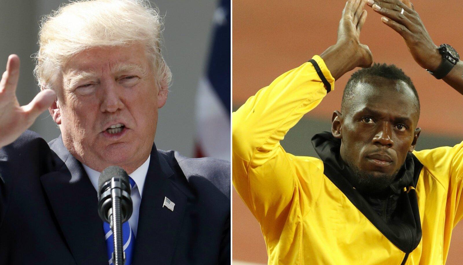 Donald Trump ja Usain Bolt