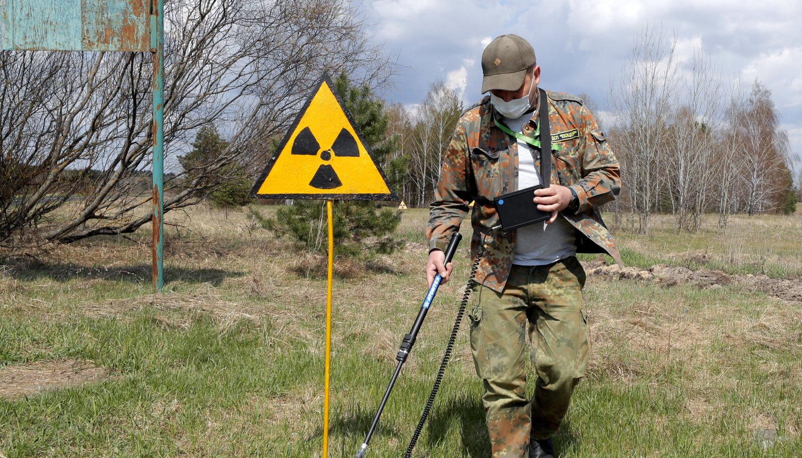 Illustratiivne pilt: ekskursioon Ukrainas Tšornobõli tsoonis (foto: EPA / Scanpix)
