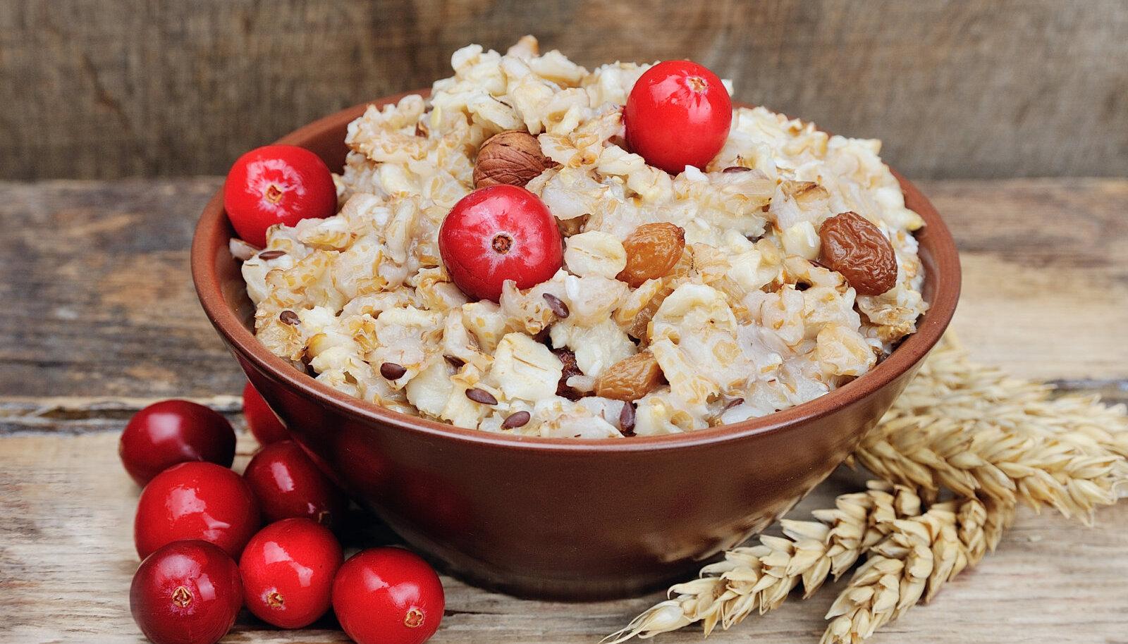 Täisterakaerahelvestest valmistatud toidud aitavad alandada kõrget vererõhku ning normaliseerida kolestoroolitaset ja ainevahetust
