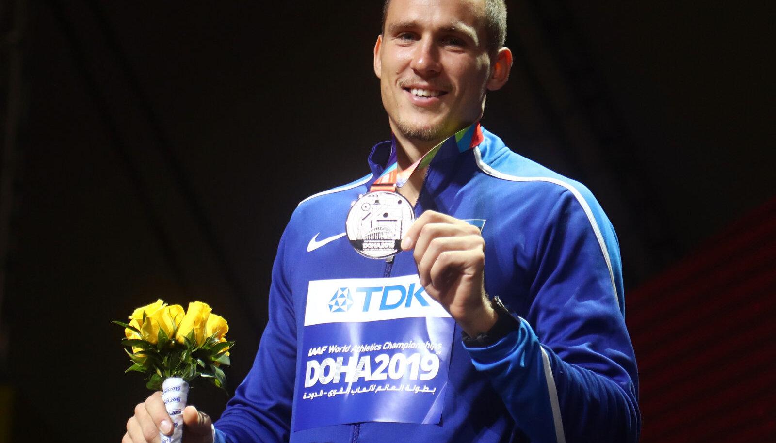 Maicel Uibo võitis Doha MM-ilt hõbemedali.