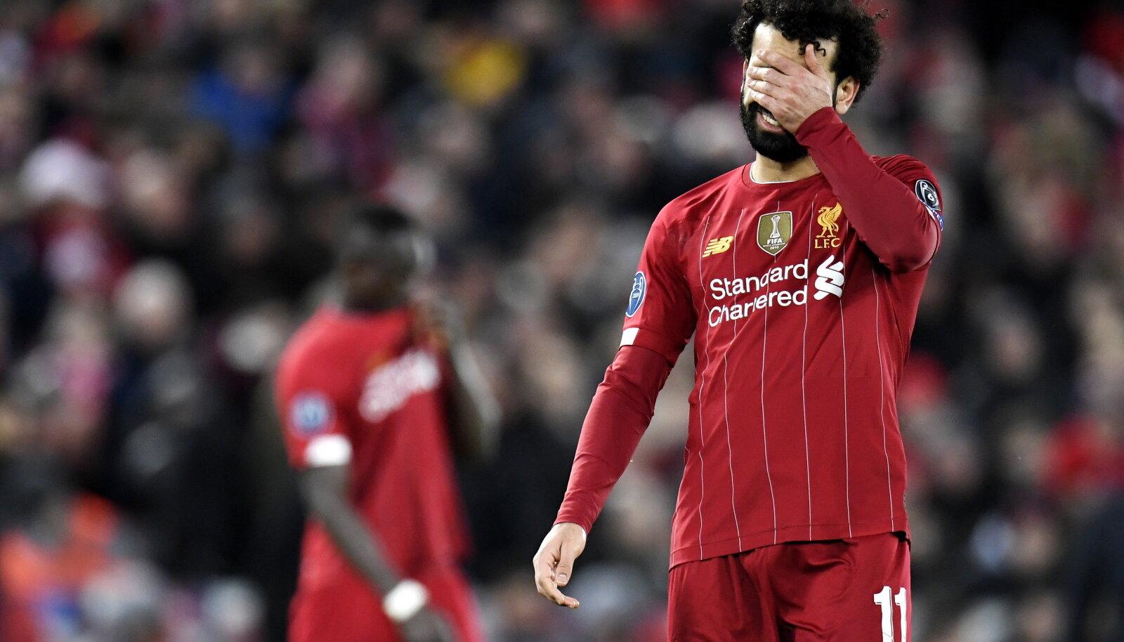 Pettunud Liverpooli staar Mo Salah.