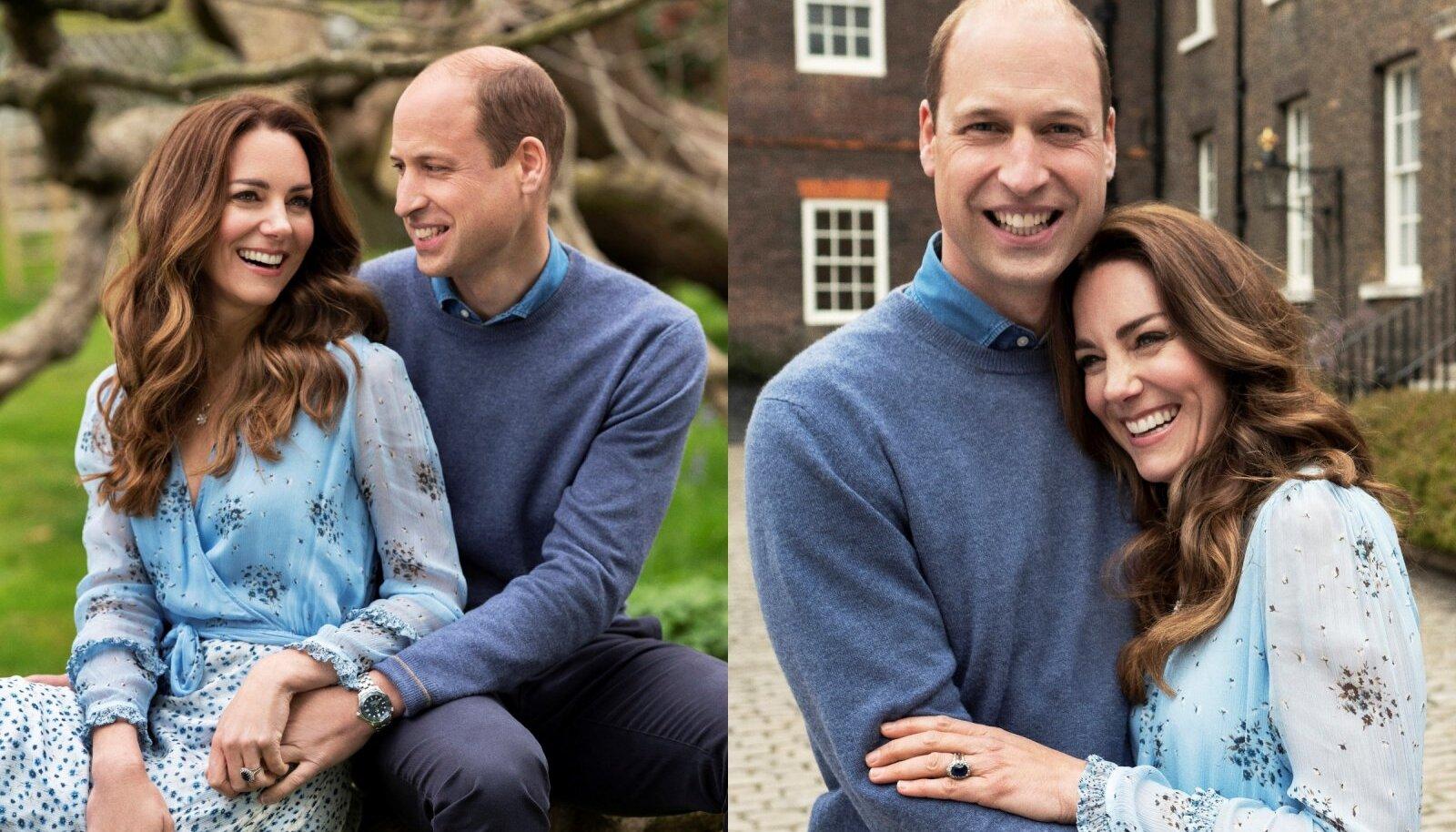 Кенсингтонский дворец выпустил две официальные фотографии принца Уильяма и Кейт к годовщине их брака