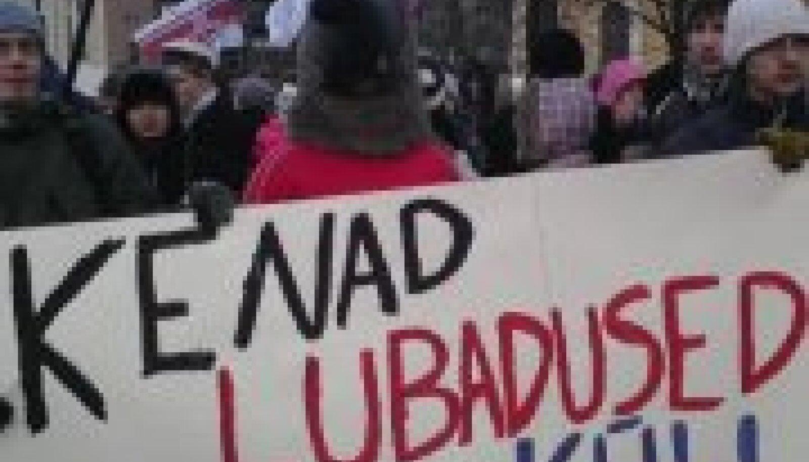 Tudengid protestivad