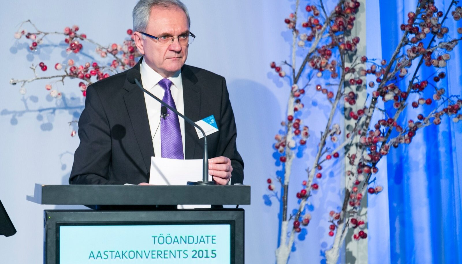 Jüri Raidla tööandjate keskliidu aastakonverentsil.