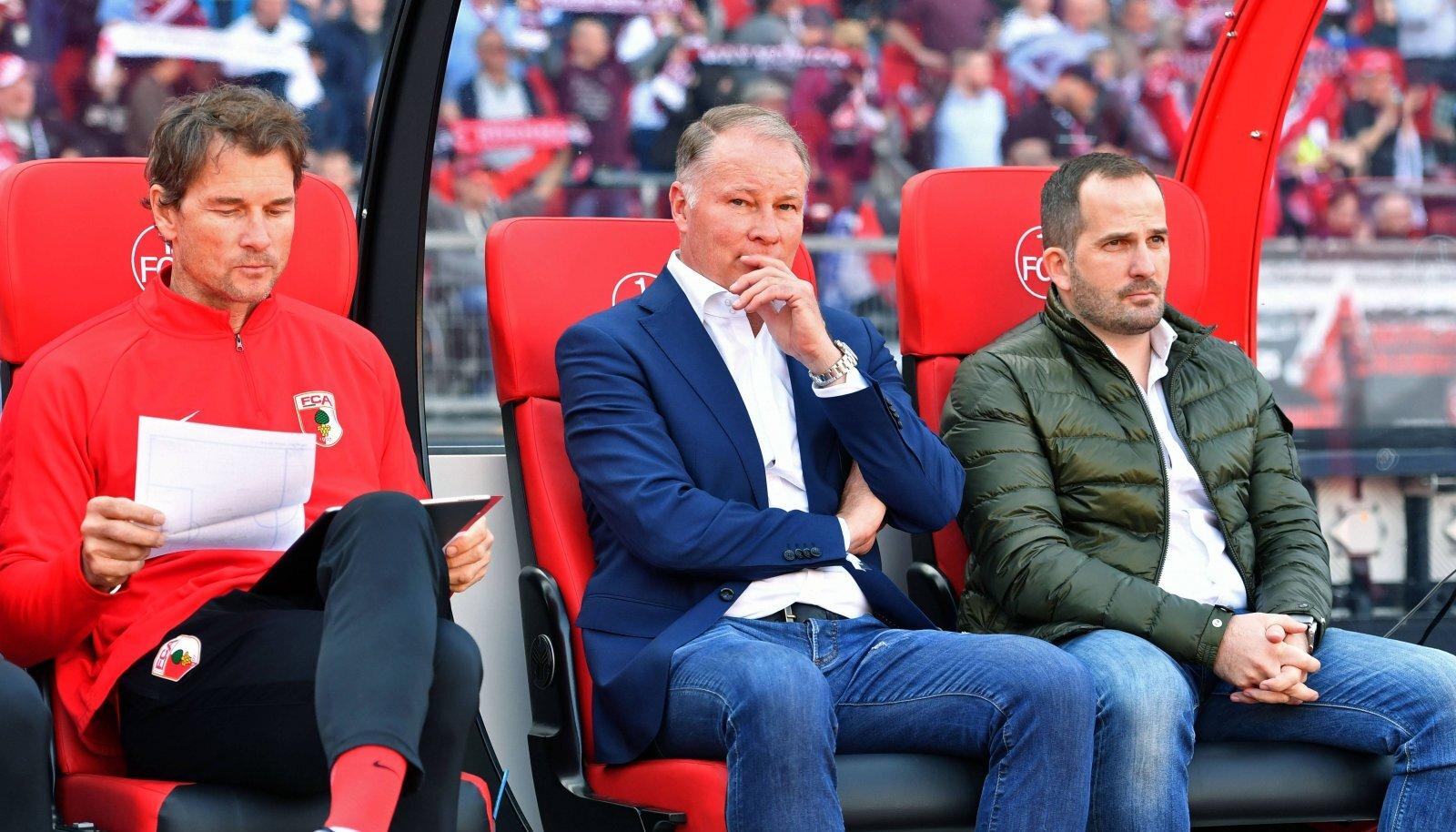 Manuel Baum (keskel) ja endine Saksamaa koondise väravavaht Jens Lehmann (vasakul).