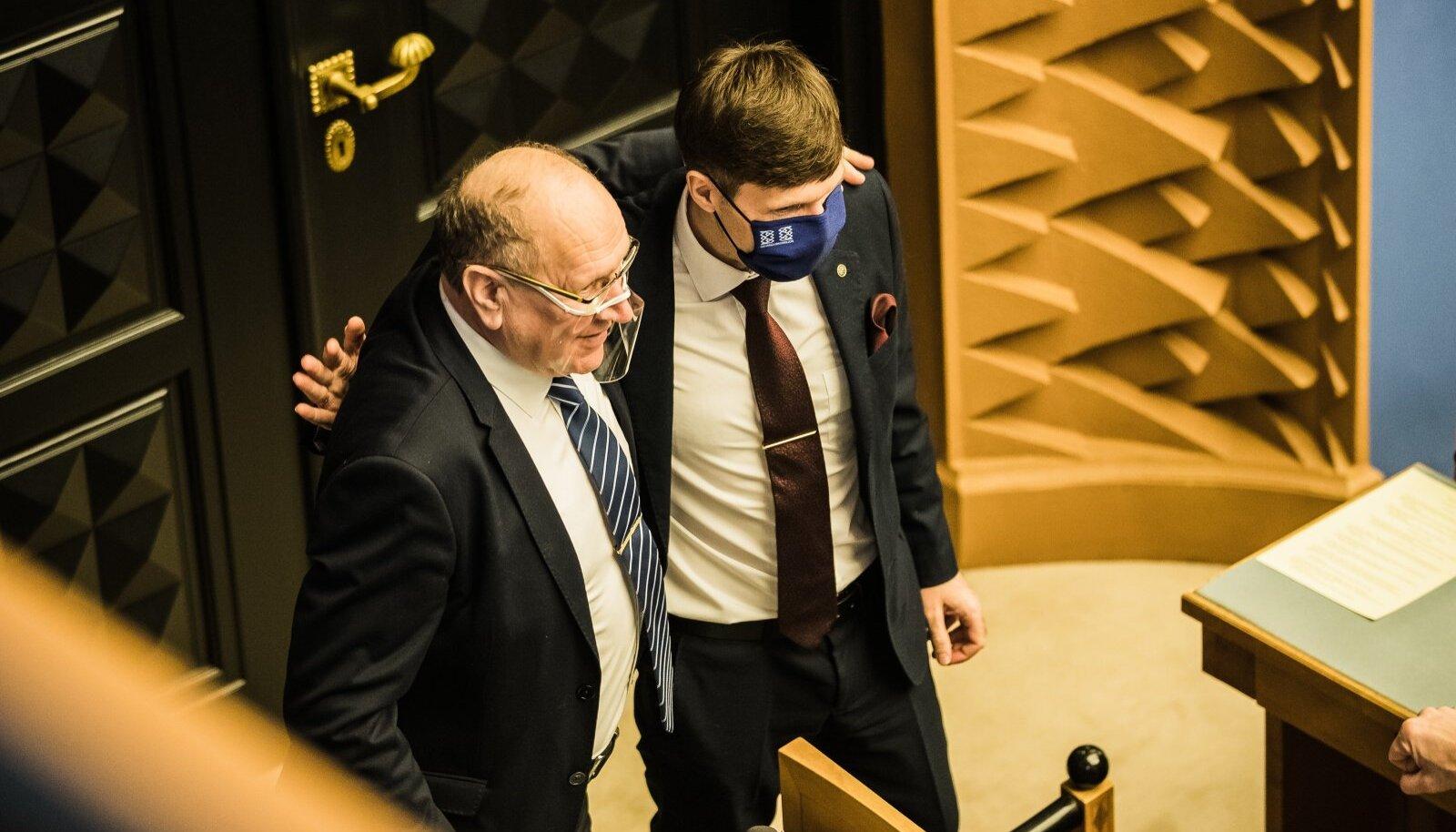 EKRE juhtfiguurid Mart ja Martin Helme