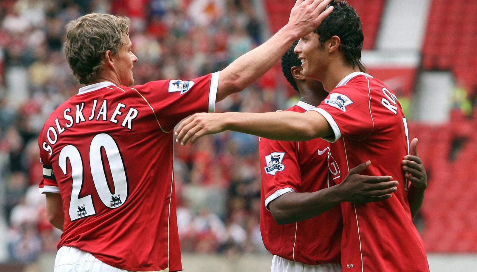 Foto aastast 2006, kui Solskjaer ja Ronaldo olid veel tiimikaaslased.