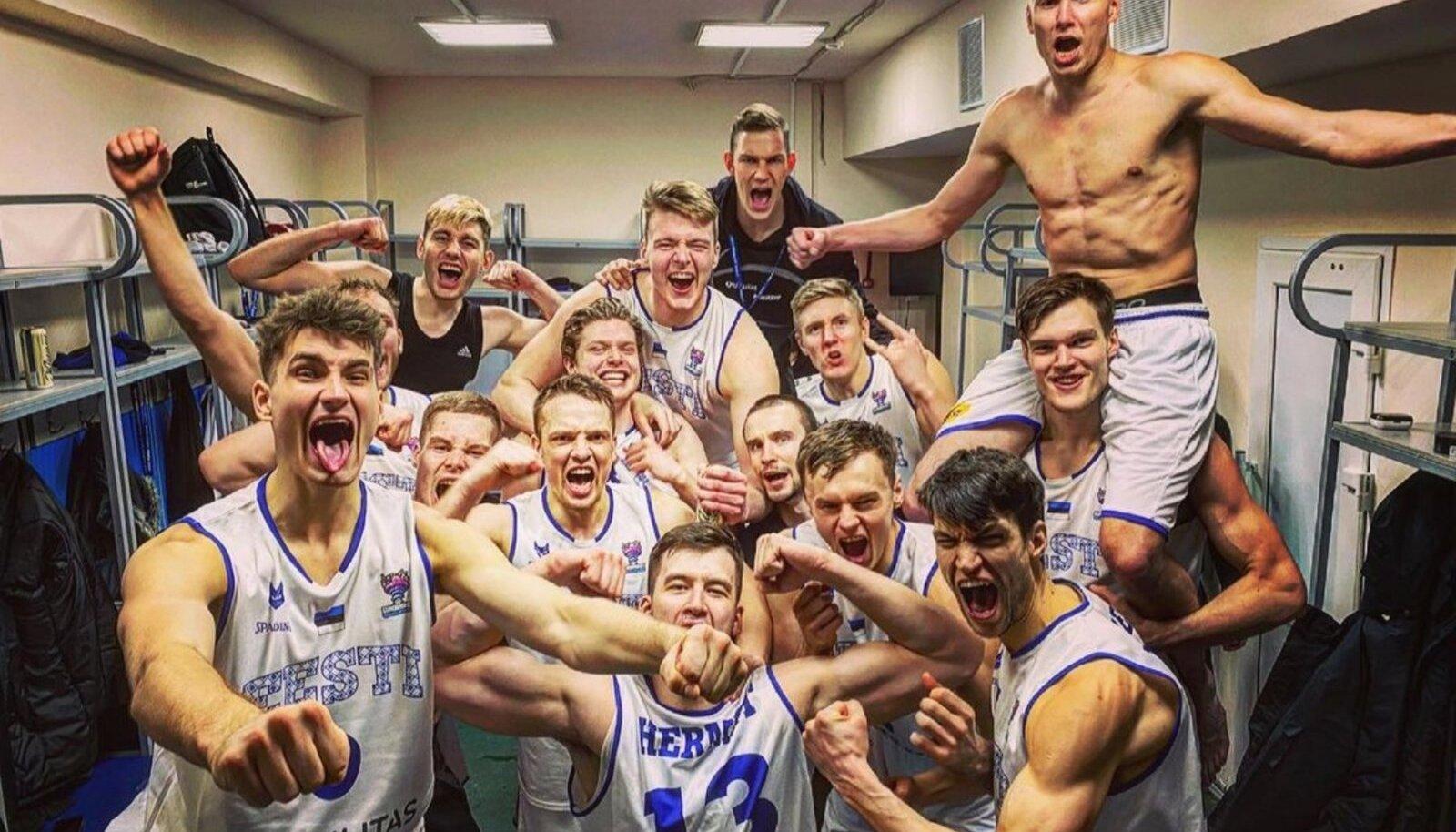 Eesti korvpallikoondislased juubeldavad: EM-finaalturniiri pilet on käes!