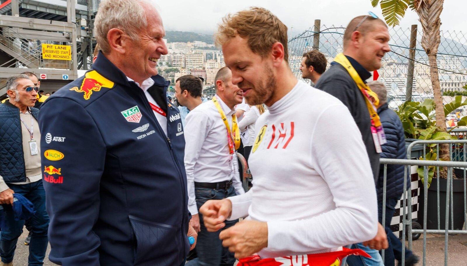 Helmut Marko ja Sebastian Vettel
