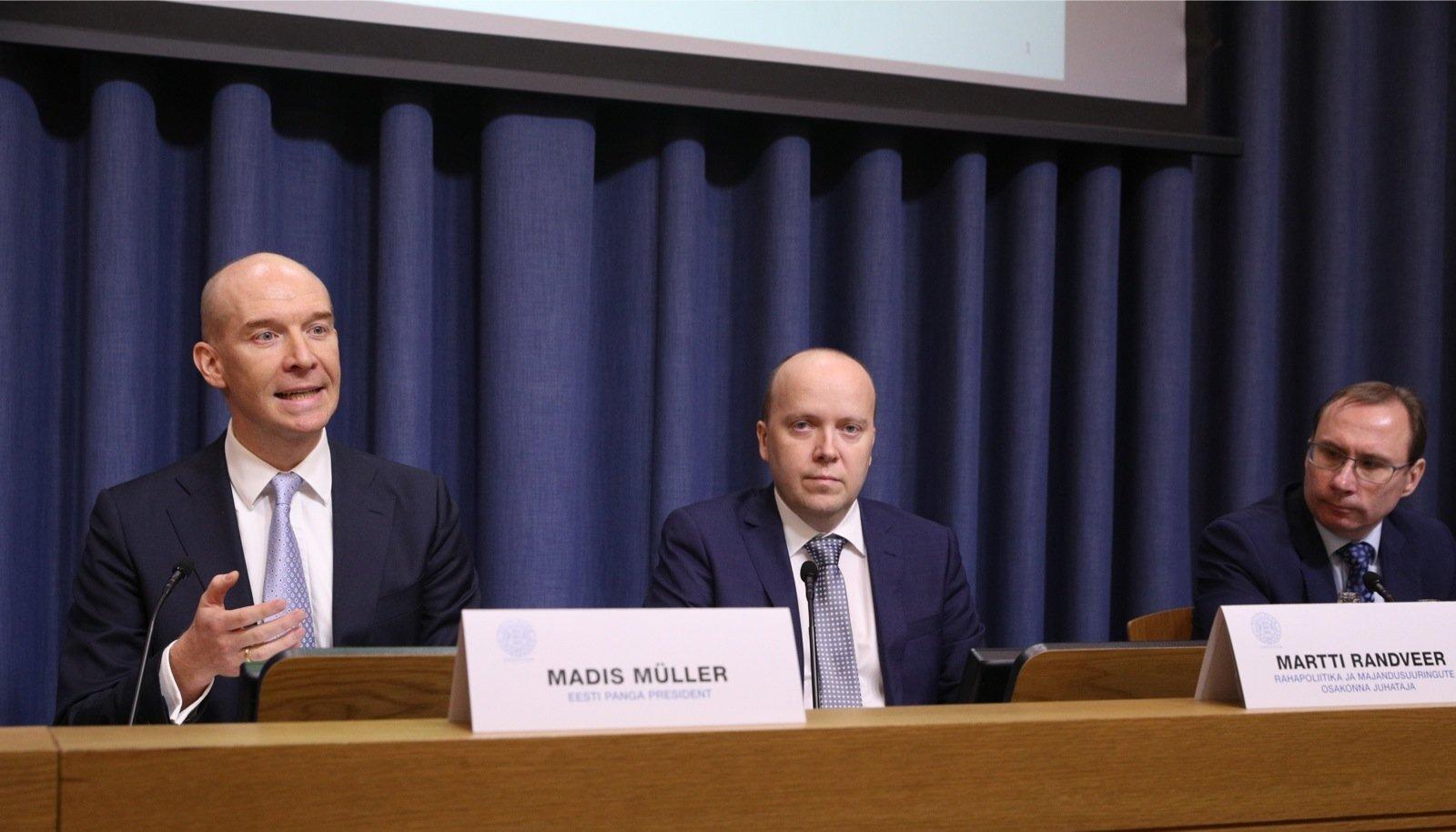 Eilsel Eesti Panga pressikonverentsil tutvustati pensionireformi mõjusid Eesti majandusele.