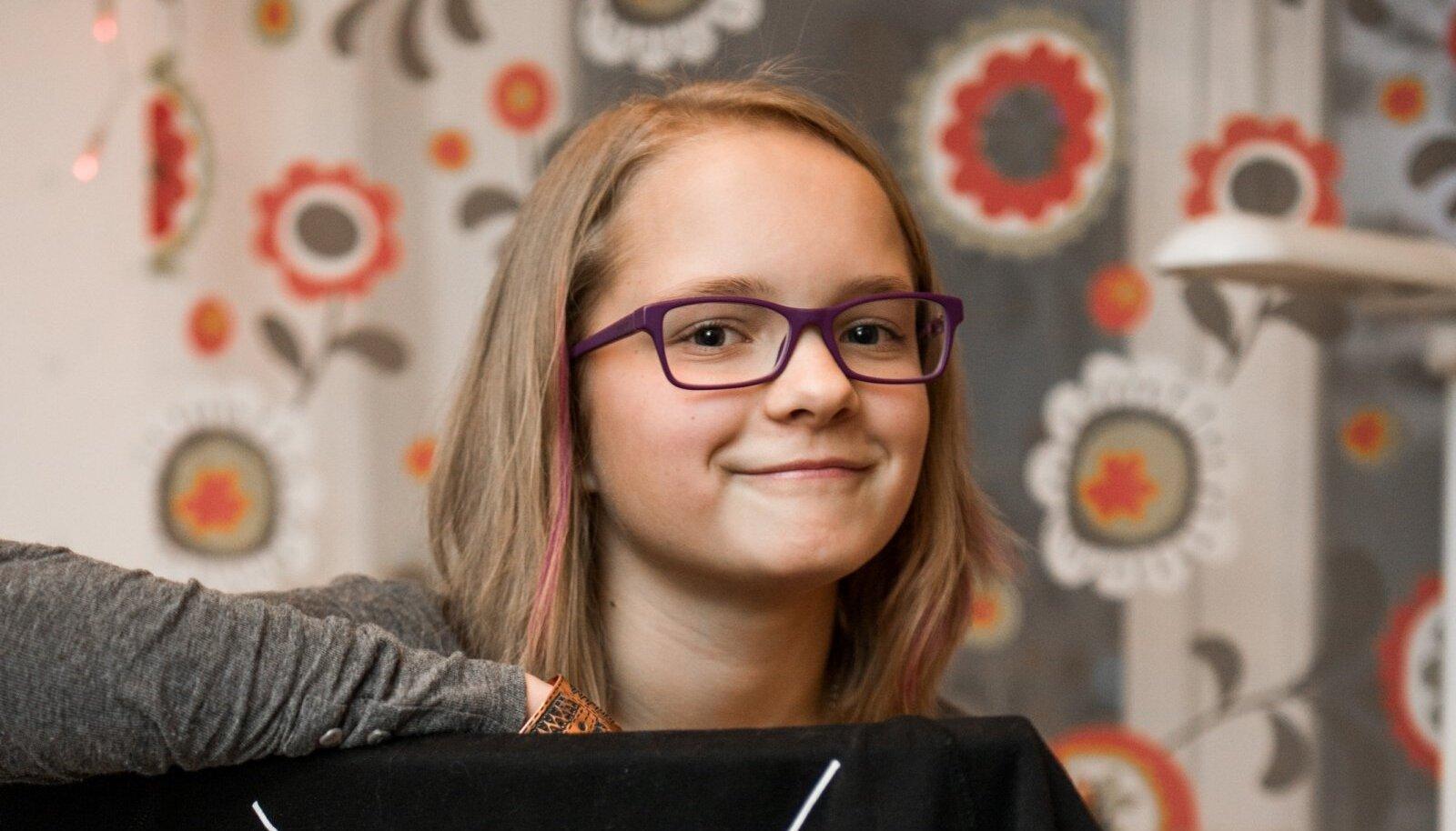 Liisa Koppel kodus Pärnus