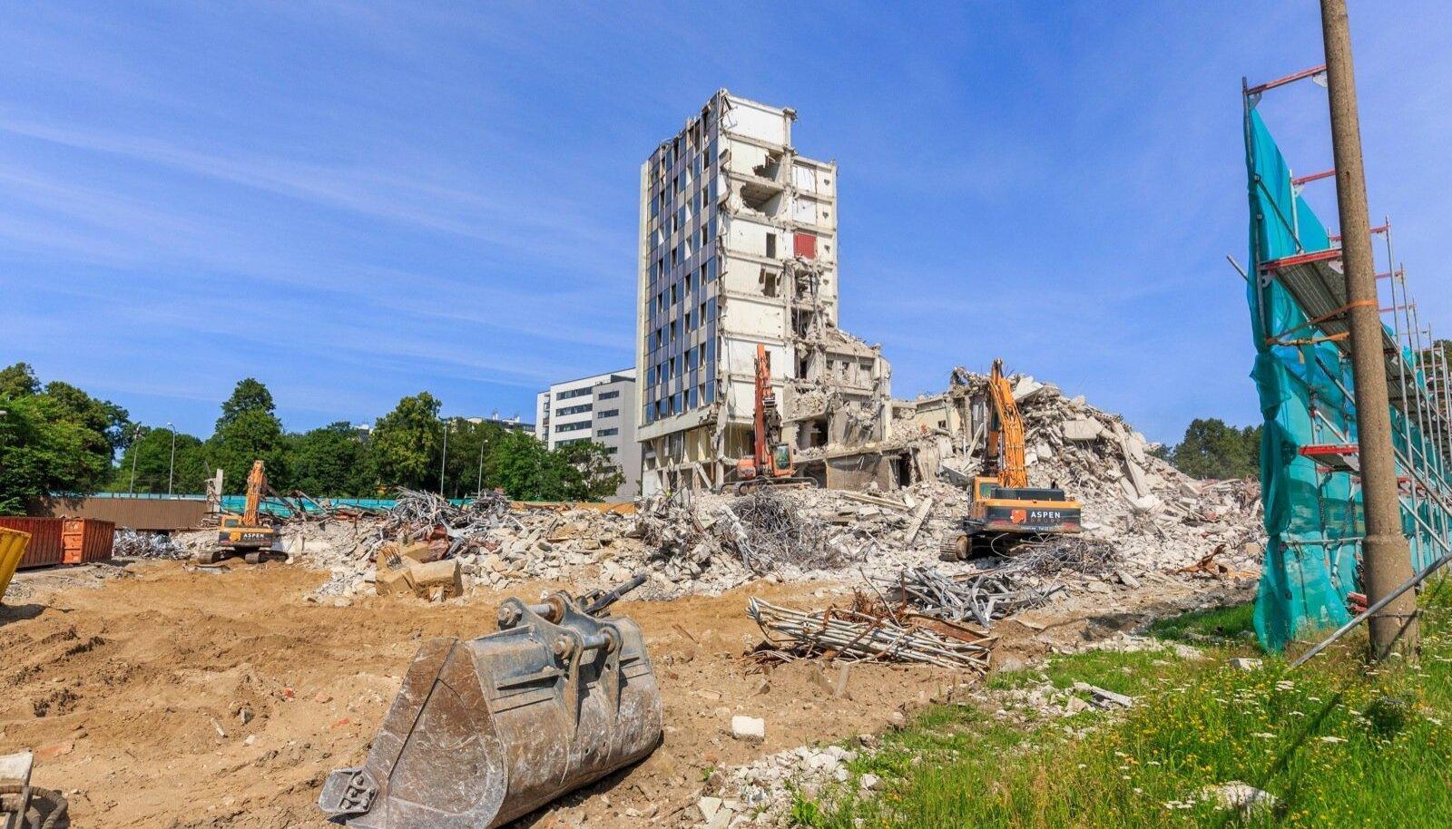 Rahandusministeeriumi lammutustööd 2015