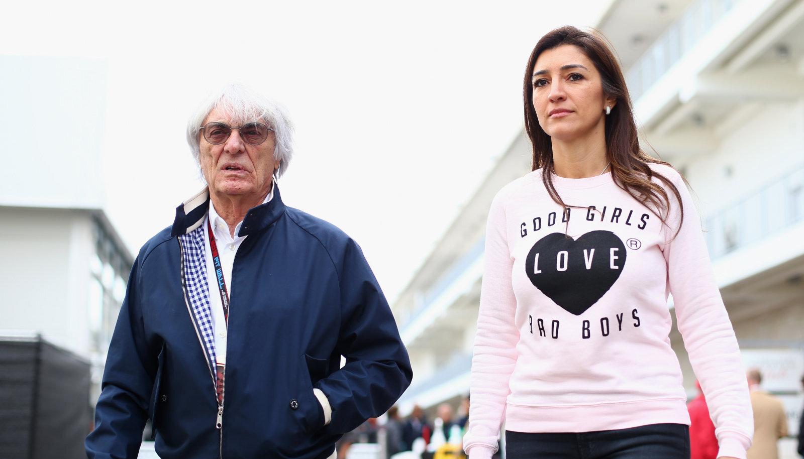 Bernie Ecclestone ja Fabiana Flosi 2013. aastal USA GP-l.