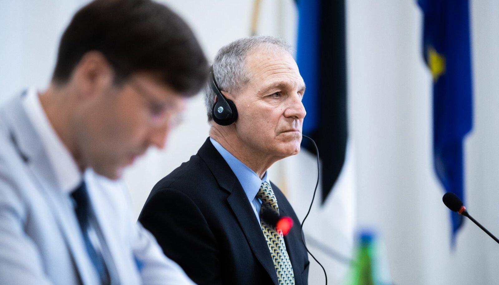 Martin Helme ja advokaadibüroo Freeh Sporkin & Sullivan LLP juht ja asutaja Louis Freeh 'i pressikonverents