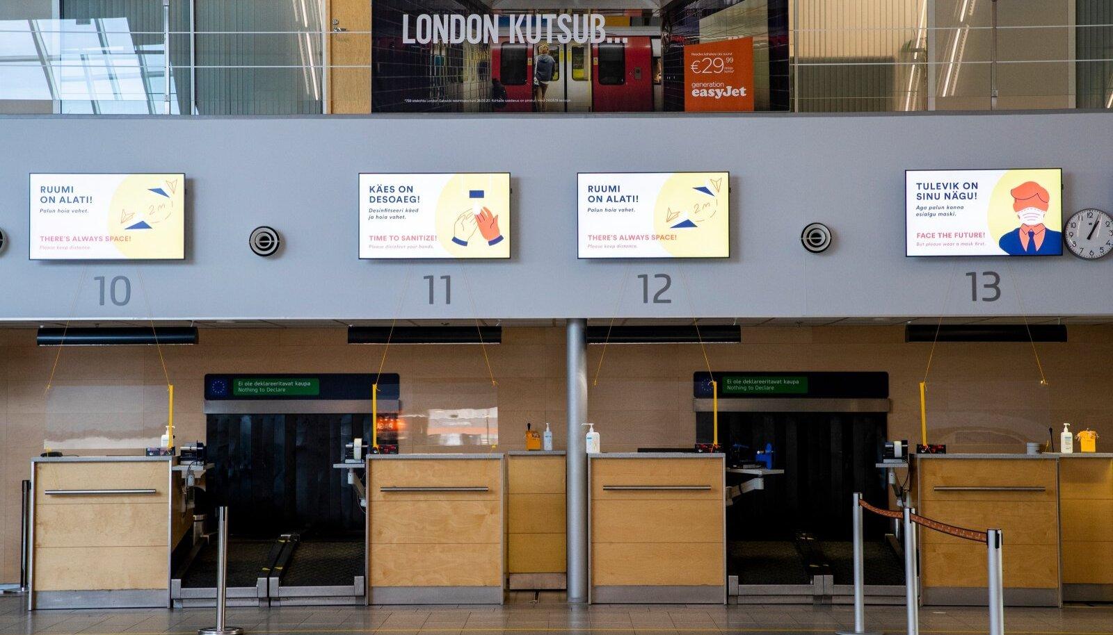 Tallinna lennujaam oli eile keskpäeval inimtühi. Kuna koroonaviirusega nakatumine suureneb üle Euroopa, ähvardavad praeguste piirangute säilimise korral kaduda vähesedki alles jäänud lennuühendused.