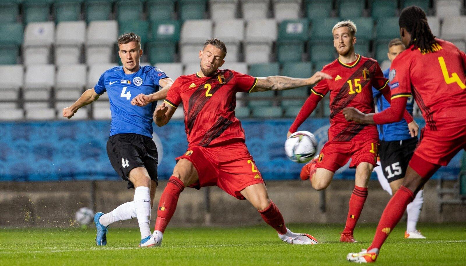 Septembrikuine kohtumine Eesti ja Belgia vahel lõppes belglaste 5:2 võiduga.