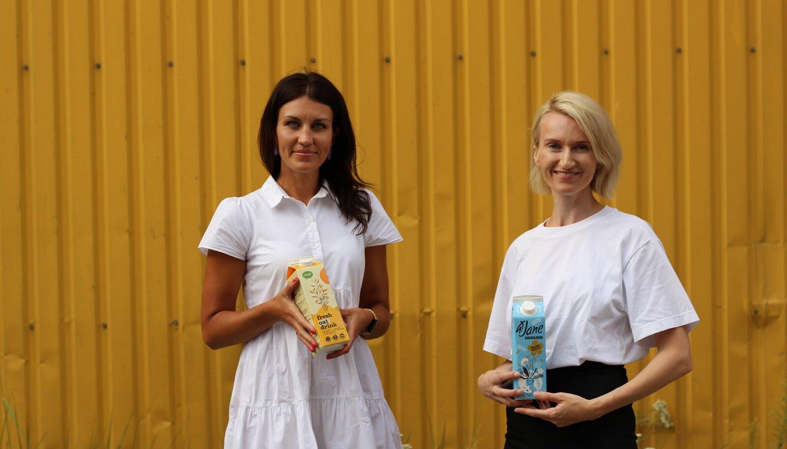 Stuudios tutvustasid Eesti esimesi kaerajooke Tere/Nordic Milk toote innovatsioonijuht Liina Kimmel ja Jane Kaerajookide looja Jane Kaljulaid.
