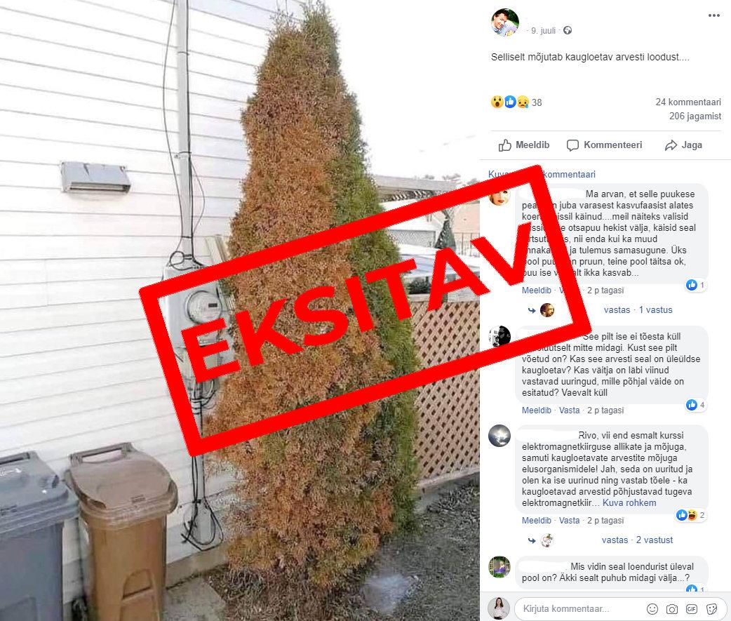 Ümber lükatud:  elektri kaugloendurid pole võimelised puid ja taimi tapma