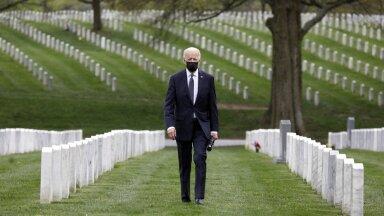 USA president Joe Biden külastas peale USA vägede Afganistanist väljaviimisest kuulutamist Arlingtoni surnuaeda (foto: CNP, AdMedia, SIPA / Scanpix)
