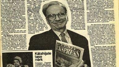 MILJARDÄR JA SÕLTUMATU NÄDALALEHT: Rupert Murdoch Ekspressi lehenumbriga aastast 1991.