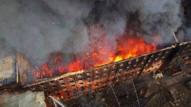 Основной версией пожара на Невской мануфактуре в Санкт-Петербурге является поджог