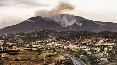 Põlengud ja suits eile Málaga piirkonnas.