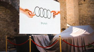 Fotod: Audi tõmbas Pirita kloostri varemetes katte elektriautolt Q4 e-tron