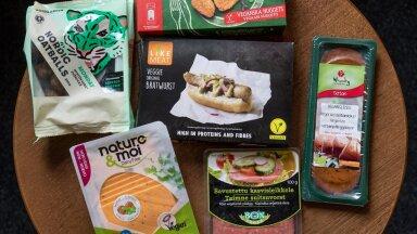 Liha imiteerivate veganitoodete hulgas leidus nii saepuru meenutavaid kui üpris maitsvaid produkte.