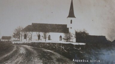 Anseküla kirik kahe maailmasõja vahelisel ajal.