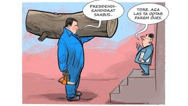 KARIKATUUR   Las presidendikandidaat ootab