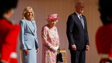KLÕPS | Kuninganna Elizabeth II tervitas Londonis Joe Bidenit ja ta abikaasat. Menüüs loomulikult tee