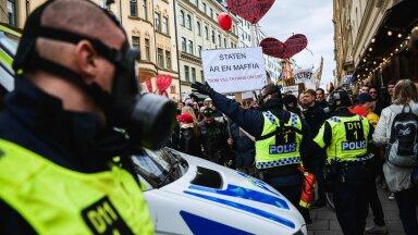1 мая этого года в Стокгольме прошла демонстрация против коронавирусных ограничений