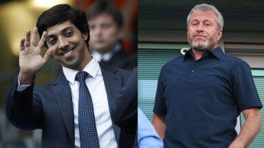 Manchester City omanik Mansour bin Zayed Al Nahyan ja Londoni Chelsea omanik Roman Abramovitš.