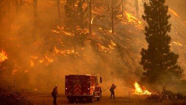Kustutustööd Californias. Tulekahjusid on põrgukuumuses keeruline kustutada, sest lennukitest alla lastav vesi aurustub juba enne maapinnale jõudmist.