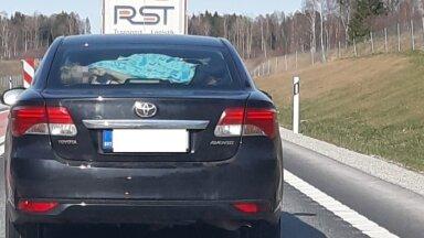 ФОТО | Горе-водительница или бессердечная мать? Смотрите, как безответственно женщина везла двоих детей по шоссе Таллинн – Пярну