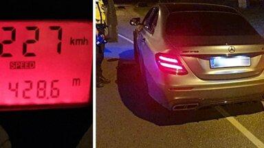 Läti numbrimärgiga huligaan tegi Pirita teel kiiruskatset, sõites kiirusega 227 km/h. Karistuseks kuu aega kinnimajas