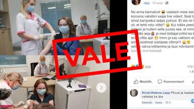 FAKTIKONTROLL | Eesti uus rekordvale: esimene vaktsineerimine lavastati, vaktsiin pole ehtne