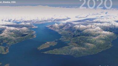 ВИДЕО   Google Earth показал в 3D, как исчезают леса, тонут ледники и растут города