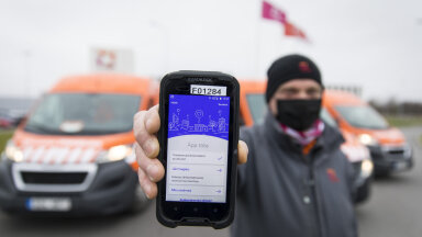 Omniva kullerid on varustatud HOIA mobiilirakendusega