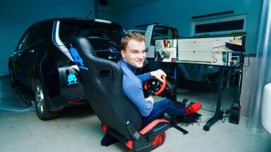 Asutaja Enn Laansoo juunior kaugjuhib ELMO Rendi garaažis elektriautot.
