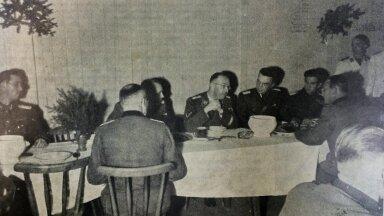 Saksaokupatsiooni ajal käis Eestis ka Heinrich Himmler, fotol õhtusöögilauas.