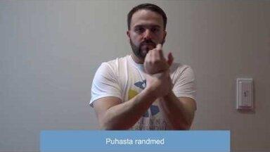 VIDEOÕPETUS   Kuidas kanda kätele antiseptikumi