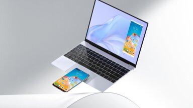 Õhuke ja kerge sülearvuti Huawei MateBook X liikuvale inimesele
