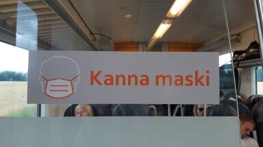 Maski kandmist soovitavad sildid on rongides juba täna