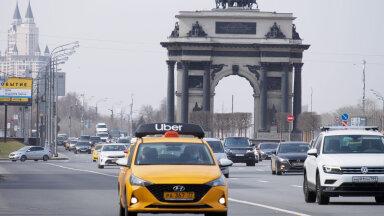 Uberi auto tänavu aprillis Moskvas (foto; ZUMApress.com / Scanpix)